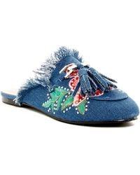 Elegant Footwear - Aubree Embroidered Slipper - Lyst