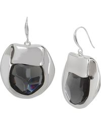 Robert Lee Morris - Faceted Black Stone Drop Earrings - Lyst