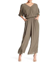 Cece by Cynthia Steffe - V-neck Ruffled Jumpsuit - Lyst