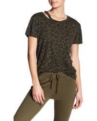Pam & Gela - Distressed Leopard Print Tee - Lyst