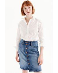 J.Crew - Petite Tailored Perfect Shirt In Cotton Poplin - Lyst
