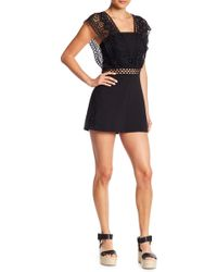 Do+Be Collection - Lace Trim Romper - Lyst