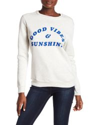 Project Social T - Good Vibes Sweatshirt - Lyst