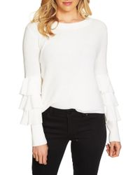 1.STATE   Tiered Ruffle Sleeve Sweater   Lyst