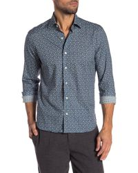 Culturata - Bear Print Contemporary Fit Shirt - Lyst