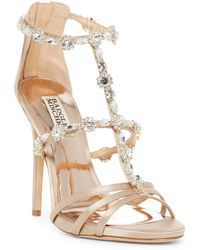 Badgley Mischka - Thelma Crystal Embellished Sandal - Lyst