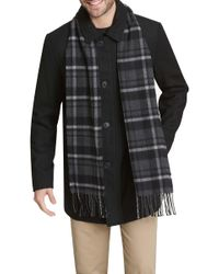 216ecbc2007 Lyst - London Fog Plus Size Walker Coat With Scarf in Natural for Men