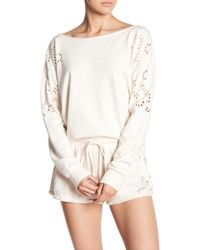 Young Fabulous & Broke - Kade Laser Cut Design Pullover Sweater - Lyst