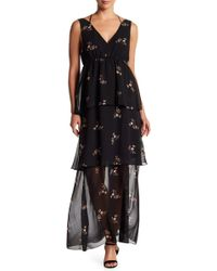 BCBGeneration - Tiered Floral Maxi Dress - Lyst