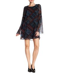BCBGeneration - Geometric Pattern A-line Dress - Lyst