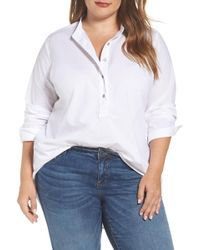 Caslon - Popover Shirt (plus Size) - Lyst