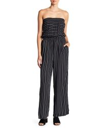 Mustard Seed - Striped Strapless Jumpsuit - Lyst