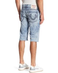 True Religion - Straight Leg Cut Off Shorts - Lyst