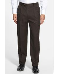 JB Britches - Pleated Super 100s Worsted Wool Trousers - Lyst