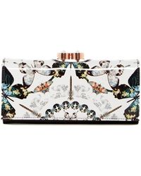 Ted Baker - Augusti Butterfly Crystal Framed Matinee Wallet - Lyst