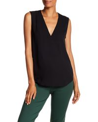 Theory - Classic Crossover Sleeveless Silk Top - Lyst