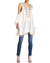 Romeo and Juliet Couture - Festival Cold Shoulder Tunic Dress - Lyst