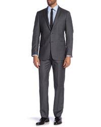 Hart Schaffner Marx - Blue Stripe Worsted Suit - Lyst