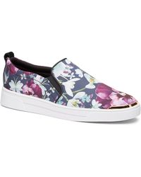Ted Baker - Tancey Text Entangled Floral Slip-on Sneaker - Lyst