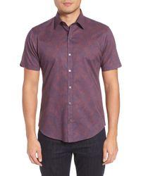 Zachary Prell - Siguenza Floral Short Sleeve Sport Shirt - Lyst