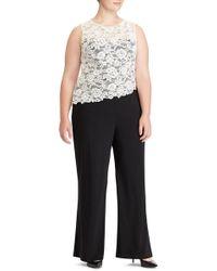 Lauren by Ralph Lauren - Zakiya Lacy Jumpsuit (plus Size) - Lyst