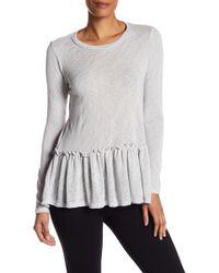 Bobeau - Peplum Long Sleeve Knit Shirt - Lyst