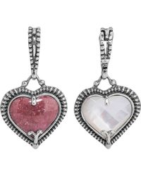 Relios - Sterling Silver Mixed Stone Heart Shaped Pendant Charm - Lyst
