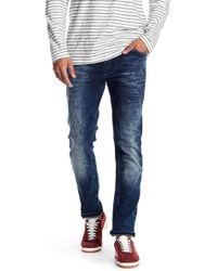 """Lindbergh - Tapered Fit Acid Wash Jeans - 32-34"""" Inseam - Lyst"""