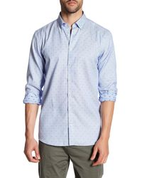 Lindbergh - Dotted Long Sleeve Regular Fit Shirt - Lyst