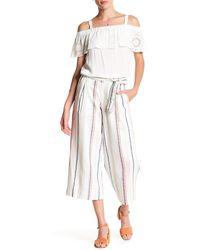 Jessica Simpson - Genea Stripe Linen-blend Crop Pant - Lyst