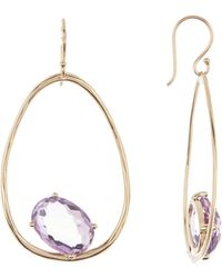 Ippolita - 18k Yellow Gold Rock Candy Large Suspension Amethyst Earrings - Lyst