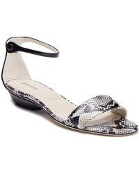 Giorgio Armani - Snake Embossed Ankle Strap Sandal - Lyst