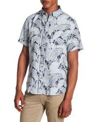 Tailor Vintage - Banana Leaf Print Linen Short Sleeve Shirt - Lyst