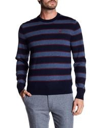 Brooks Brothers | Merino Wool Striped Crew Neck Jumper | Lyst