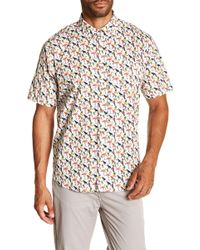 Tailor Vintage - Tropical Print Short Sleeve Poplin Shirt - Lyst