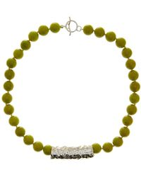 Simon Sebbag - Beaded Jade Hammered Charm Necklace - Lyst