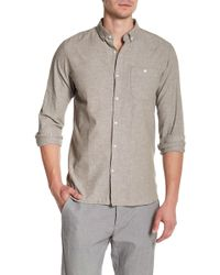 Knowledge Cotton Apparel - Long Sleeve Linen Woven Shirt - Lyst