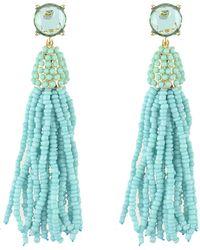 Moon & Lola - Mykonos Beaded Tassel Earrings - Lyst