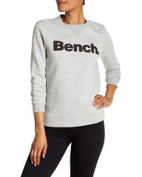 Bench - Logo Crew Neck Sweatshirt - Lyst
