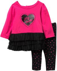 Juicy Couture - Heart Tulle Bottom Tunic & Leggings Set (baby Girls 3-9m) - Lyst
