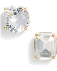 Kate Spade - Mismatched Faceted Stud Earrings - Lyst