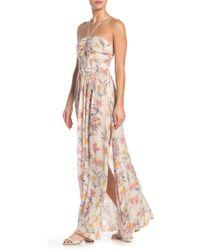 f028020b27b2 Free People - One Step Ahead Floral Print Halter Maxi Dress - Lyst