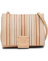 Christopher Kon - Striped Combo Leather Micro Crossbody Bag - Lyst