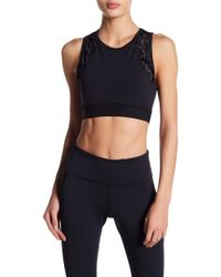 Warrior by Danica Patrick Active - Velvet Panel Sports Bra - Lyst