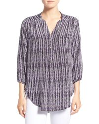 Amour Vert - Amy Button Front Blouse - Lyst