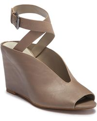 1.STATE - Felidia Leather Ankle Strap Wedge Sandal - Lyst