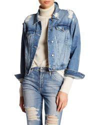Joe's Jeans - Kallie Cropped Denim Jacket - Lyst