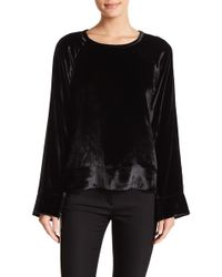 Equipment - Abeline Velvet Pullover - Lyst