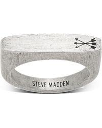 Steve Madden - Arrow Design Flat Bar Matte Ring - Size 10 - Lyst