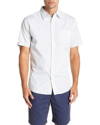 Weatherproof - Short Sleeve Front Button Print Regular Fit Woven Shirt - Lyst